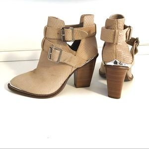 Shoemint Milly taupe leather bootie